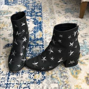 Black Dolce Vita leather star boots